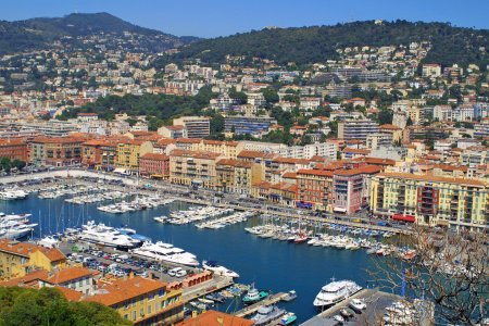 Photo for Bird view panorama of Port of Nice, France - Royalty Free Image