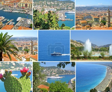 Collage made of Nice-city photos