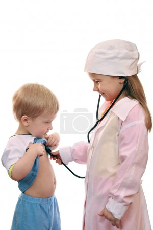 Doctor and patient, child