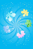 Colorful Snowflake Background