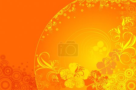 Illustration for Hibiscus flower vector illustration - Royalty Free Image