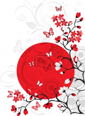 Illustration for Cherry blossom background - Royalty Free Image