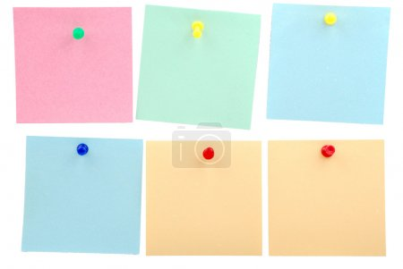 Sticker notes isolated on the white background...