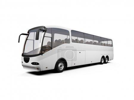 Photo pour Bus isolé sur fond blanc - image libre de droit