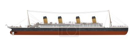 Big ship liner side view