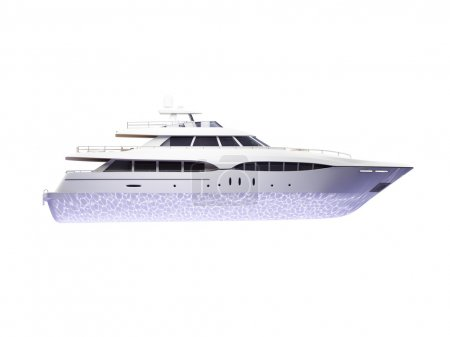 Big yacht isolated side view