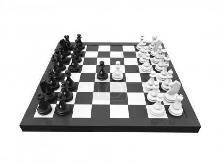 Chess isolated view