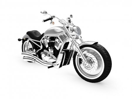 Photo pour Moto isolée sur fond blanc - image libre de droit