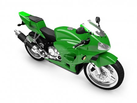 Isolated motorcycle front view 02