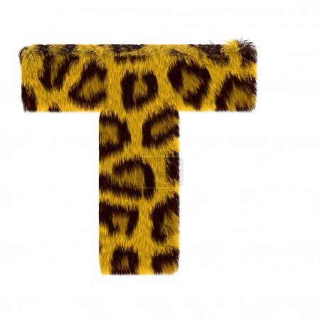 Letter from tiger style fur alphabet