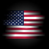 Abstract USA Flag on black background