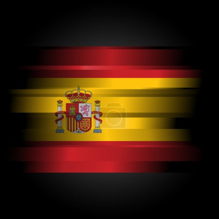 Abstract Flag of Spain on black