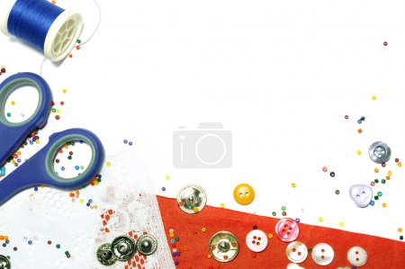Buttons and beads background