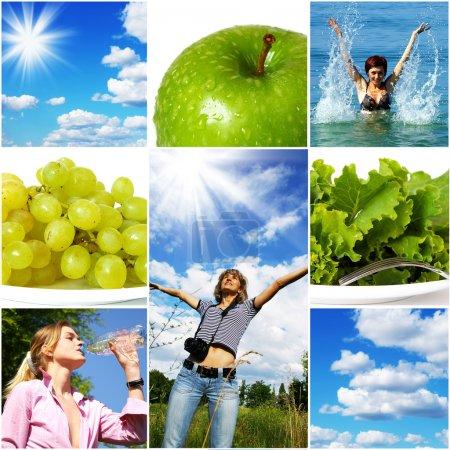 Photo pour Concept de mode de vie sain. Régime alimentaire et fitness - image libre de droit