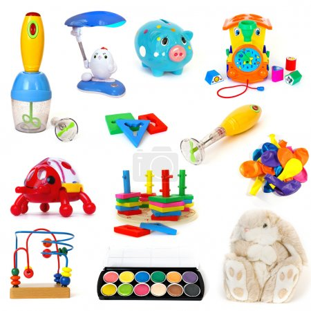 Photo for Toys set isolated on a white background - Royalty Free Image