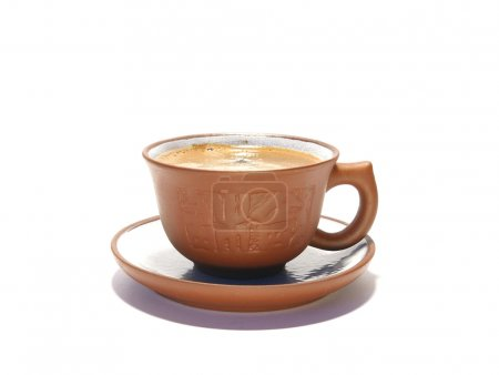 Photo for Ceramic cup of coffee isolated on white background - Royalty Free Image