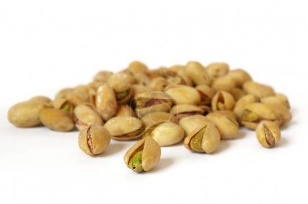 Heap of salty pistachios
