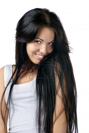 Young woman with a beautiful hair
