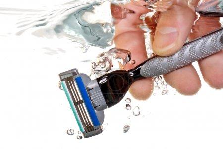 Razor in water