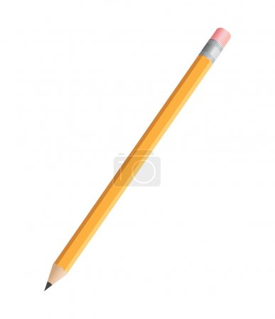 Illustration for The vector illustration contains the image of pencil - Royalty Free Image