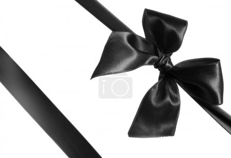 Black ribbon and bow