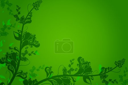 Photo for Green vintage flora background - Royalty Free Image