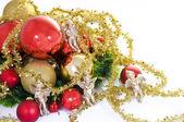 Vánoční hračky, andělé  Gold žebro