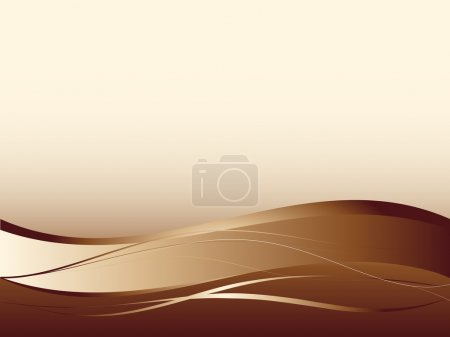 Illustration for Background with abstract smooth lines, a grid and waves - Royalty Free Image