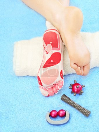 Photo for Massage of feet of a foot - Royalty Free Image