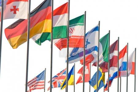 Photo pour Ensemble de différents drapeaux nationaux - image libre de droit
