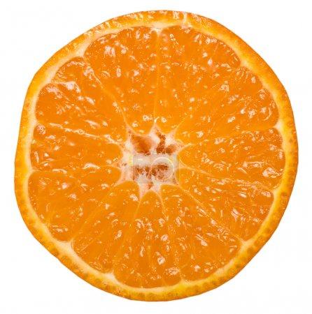 Photo pour Orange tranche de mandarine citrus isolé sur blanc - image libre de droit