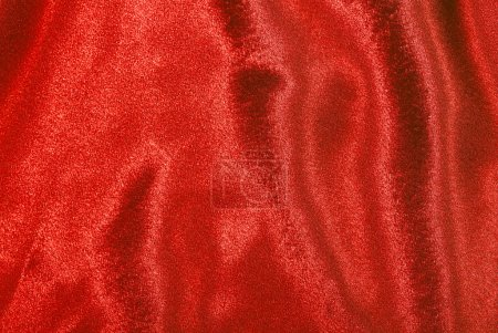 Photo for Red silk wavy texture abstract background - Royalty Free Image