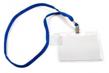 Photo pour Badge d'affaires vierge isolé sur blanc - image libre de droit