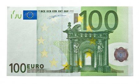 Photo pour Gros plan sur les billets de 100 euros - image libre de droit