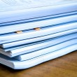 Piles of documents lying on a table...