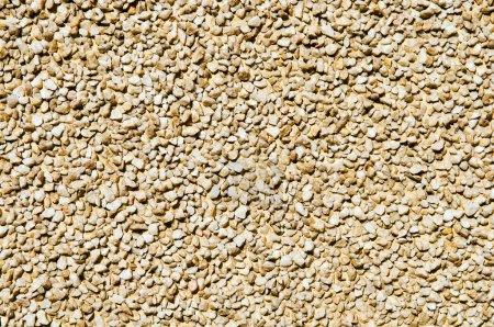 Wall of small pebble stone