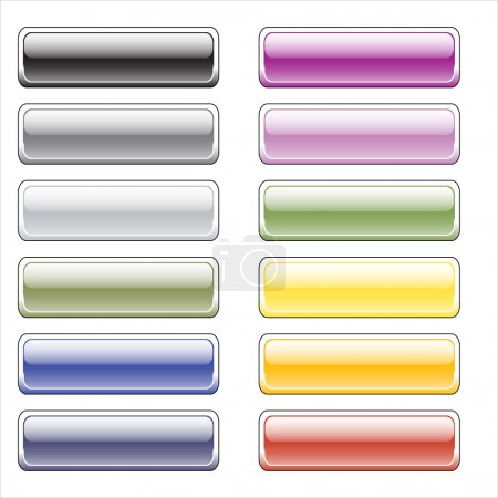 Color glossy buttons for the web