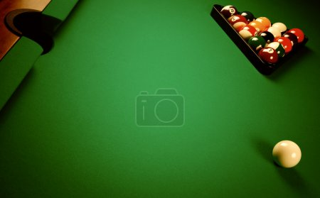 On a billiard table