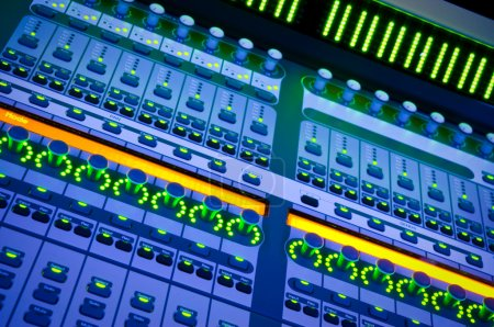 Photo for Professional audio mixer desk at he Concert - Royalty Free Image
