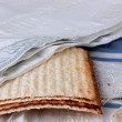 Unleavened bread and Tallith katan are used in a d...