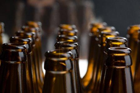 Photo pour Bouteilles de bière, tournage en studio - image libre de droit