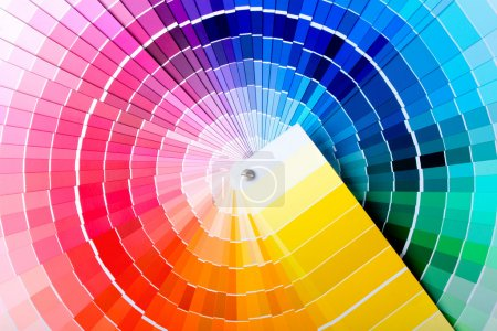 Photo for Close-up view of a color chart used for paint selection - Royalty Free Image