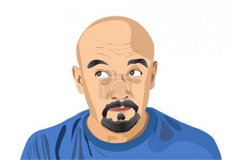 Illustration pour Portrait de l'homme. Une illustration vectorielle - image libre de droit