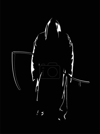 The vector image of the reaper of souls...
