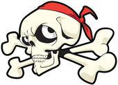 Skull and bones on white background