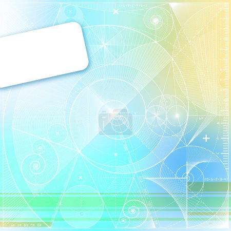 Photo for Computer generated abstract background with geometrical elements and blank square. - Royalty Free Image