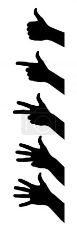Illustration for Vector illustration of counting fingers at white background - Royalty Free Image