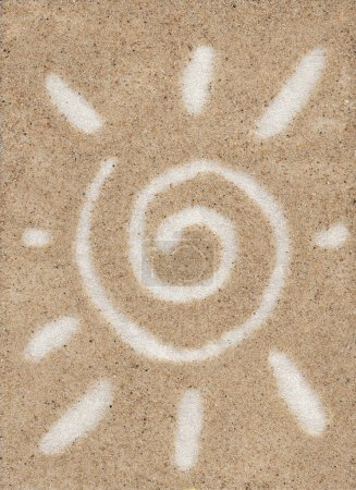 The midday sun on the sand
