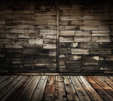 Photo for Old rural wooden interior - Royalty Free Image