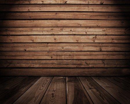 Photo pour Intérieur en bois ancienne - image libre de droit